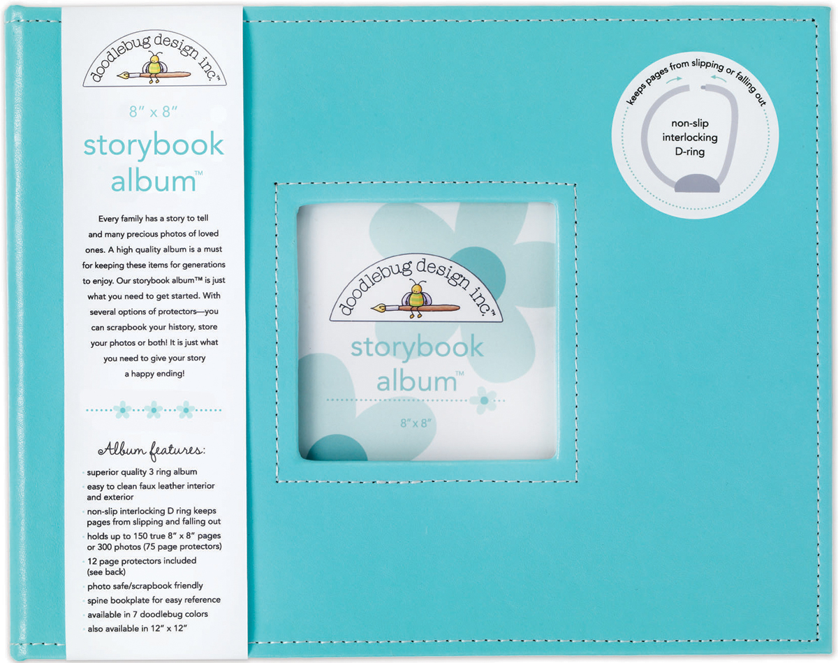 Doodlebug Storybook D-Ring Album 8X8-Swimming Pool