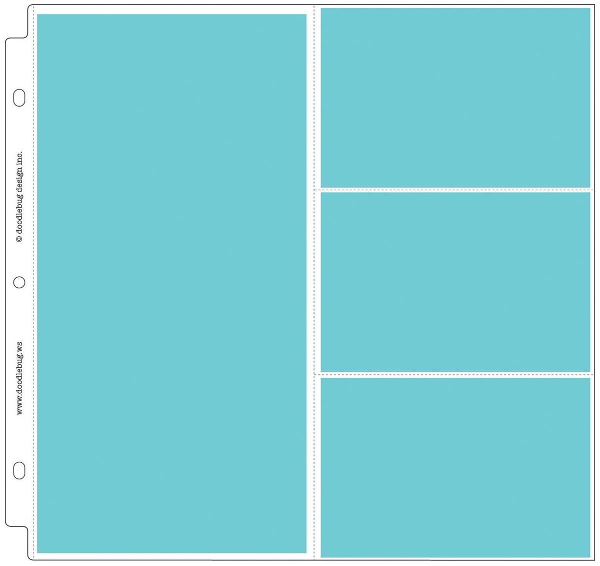 Doodlebug Page Protectors 12X12 25/Pkg-(1) 6X12 & (3) 6X4 Pockets