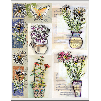 Penny Black Stickers-Painted Vase