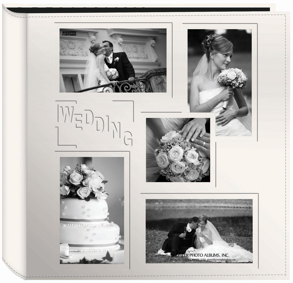 Pioneer 5-Up Sewn Embossed Collage Frame Photo Album 12X12-Wedding