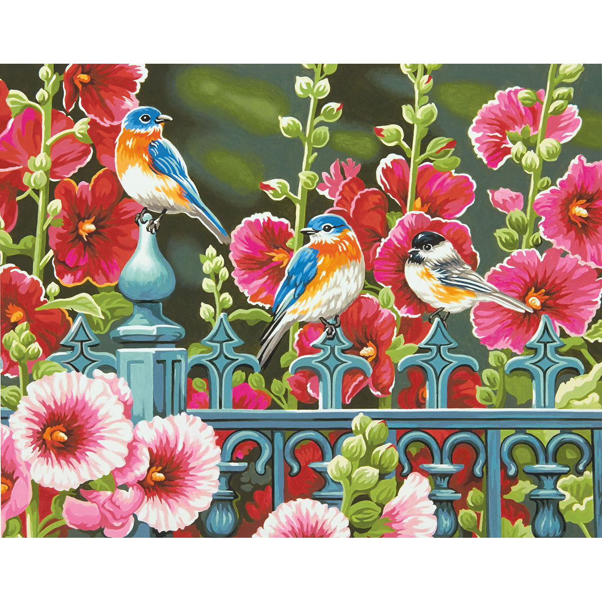 Paint Works Paint By Number Kit 14X11-Hollyhock Gate