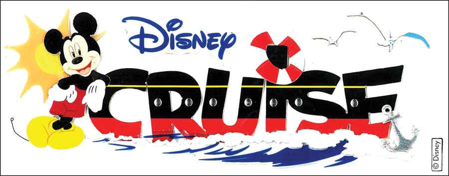 Disney Title Dimensional Stickers-Mickey - Cruise
