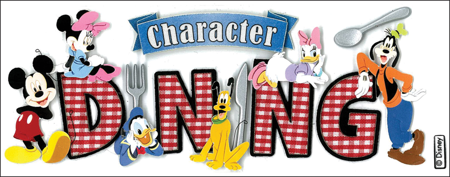 Disney Title Dimensional Stickers-Mickey - Character Dining