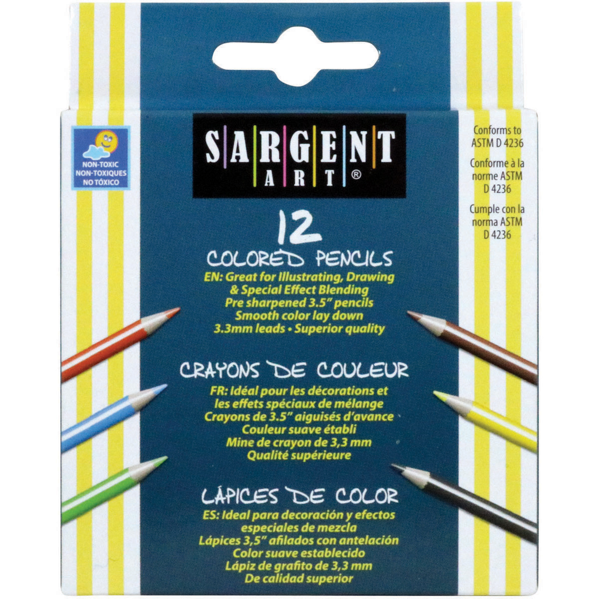 Half-Sized Colored Pencils 12/Pkg-