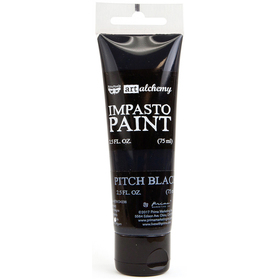 Finnabair Art Alchemy Impasto Paint 2.5 Fluid Ounces-Pitch Black