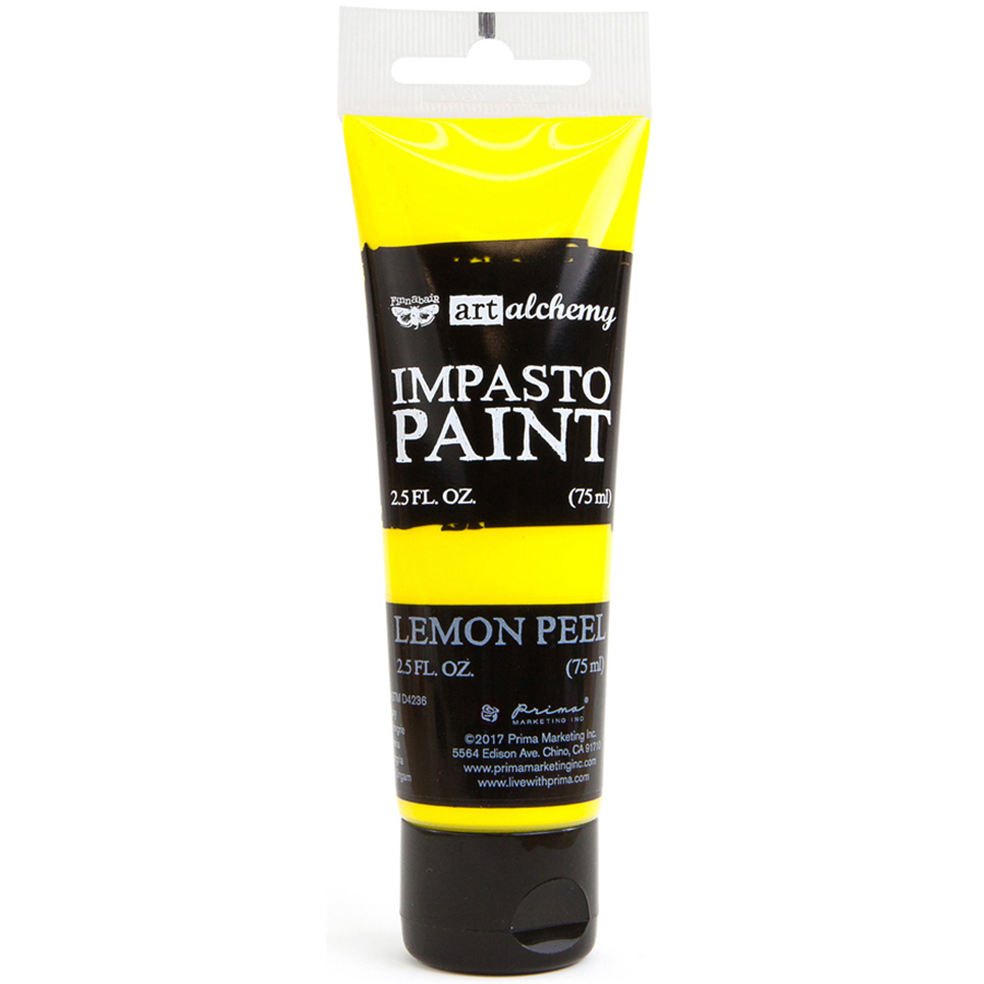 Finnabair Art Alchemy Impasto Paint 2.5 Fluid Ounces-Lemon Peel