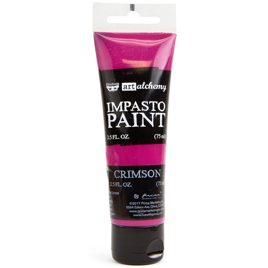 Finnabair Art Alchemy Impasto Paint 2.5 Fluid Ounces-Crimson