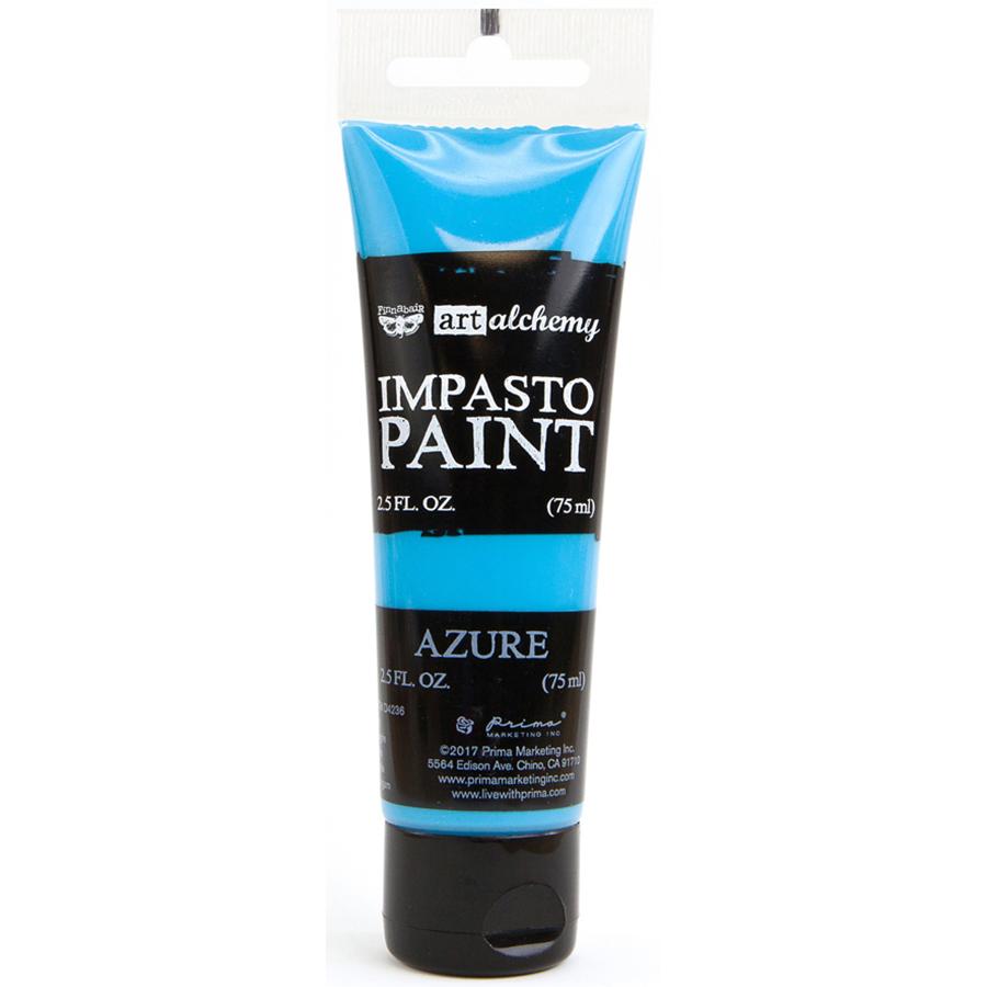 Finnabair Art Alchemy Impasto Paint 2.5 Fluid Ounces-Azure