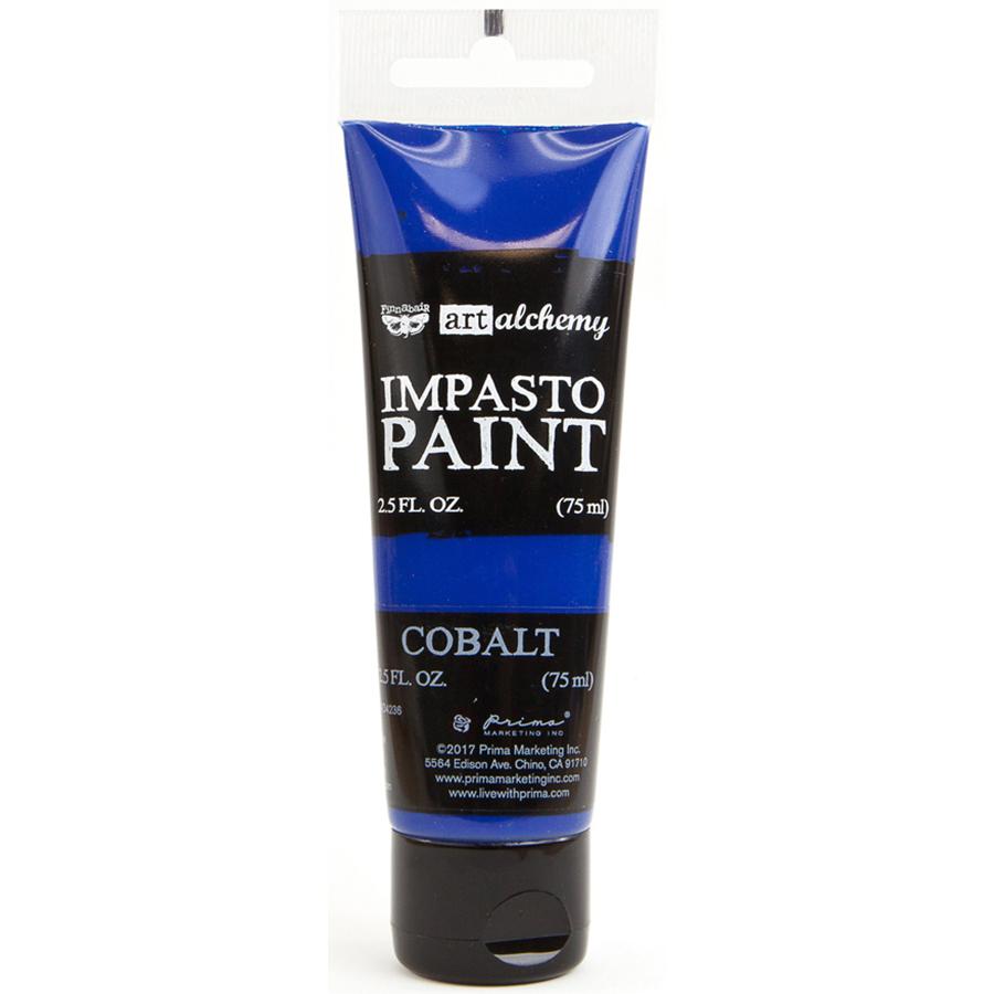 Finnabair Art Alchemy Impasto Paint 2.5 Fluid Ounces-Cobalt