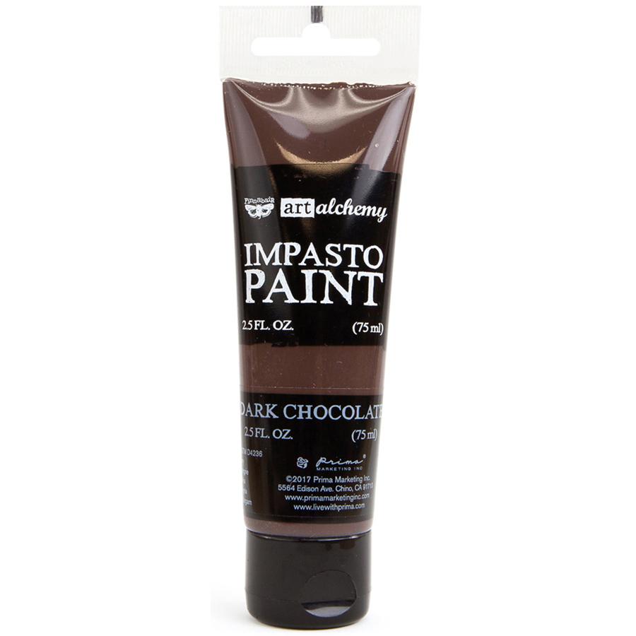 Finnabair Art Alchemy Impasto Paint 2.5 Fluid Ounces-Dark Chocolate
