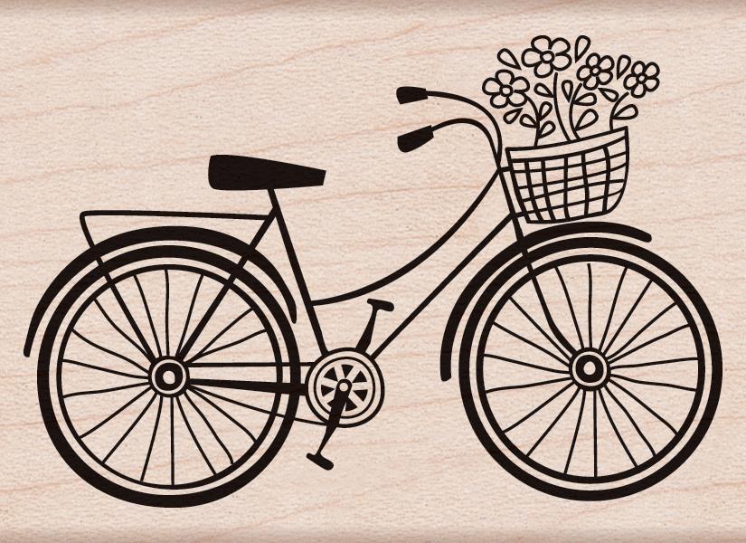 BICYCLE   -HERO ART MOUNT STAMP