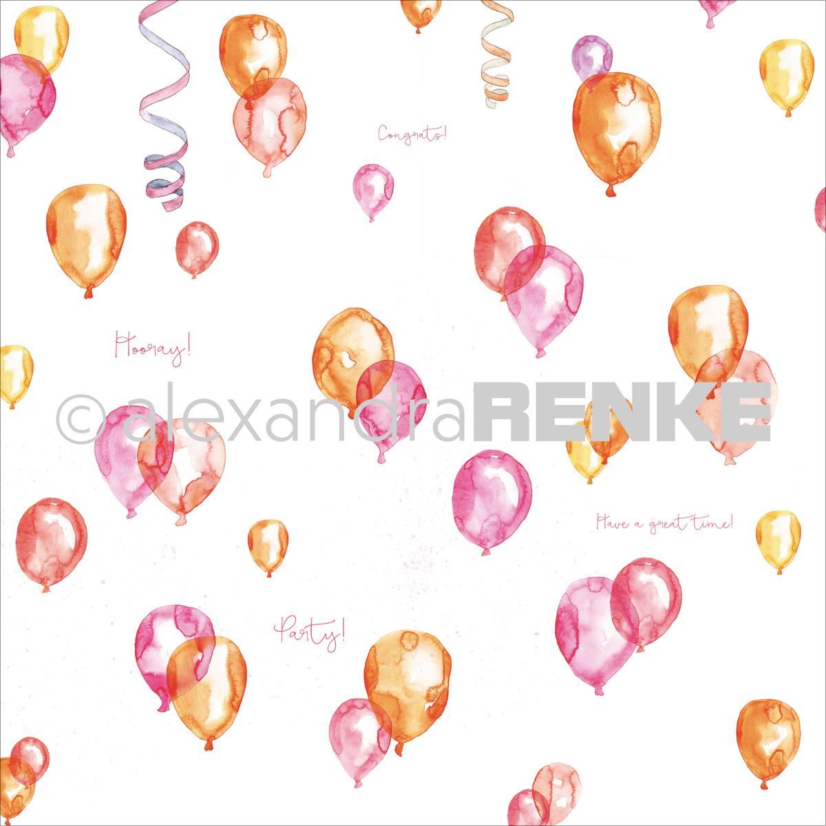 Alexandra Renke Circus Design Paper 12X12-Balloon
