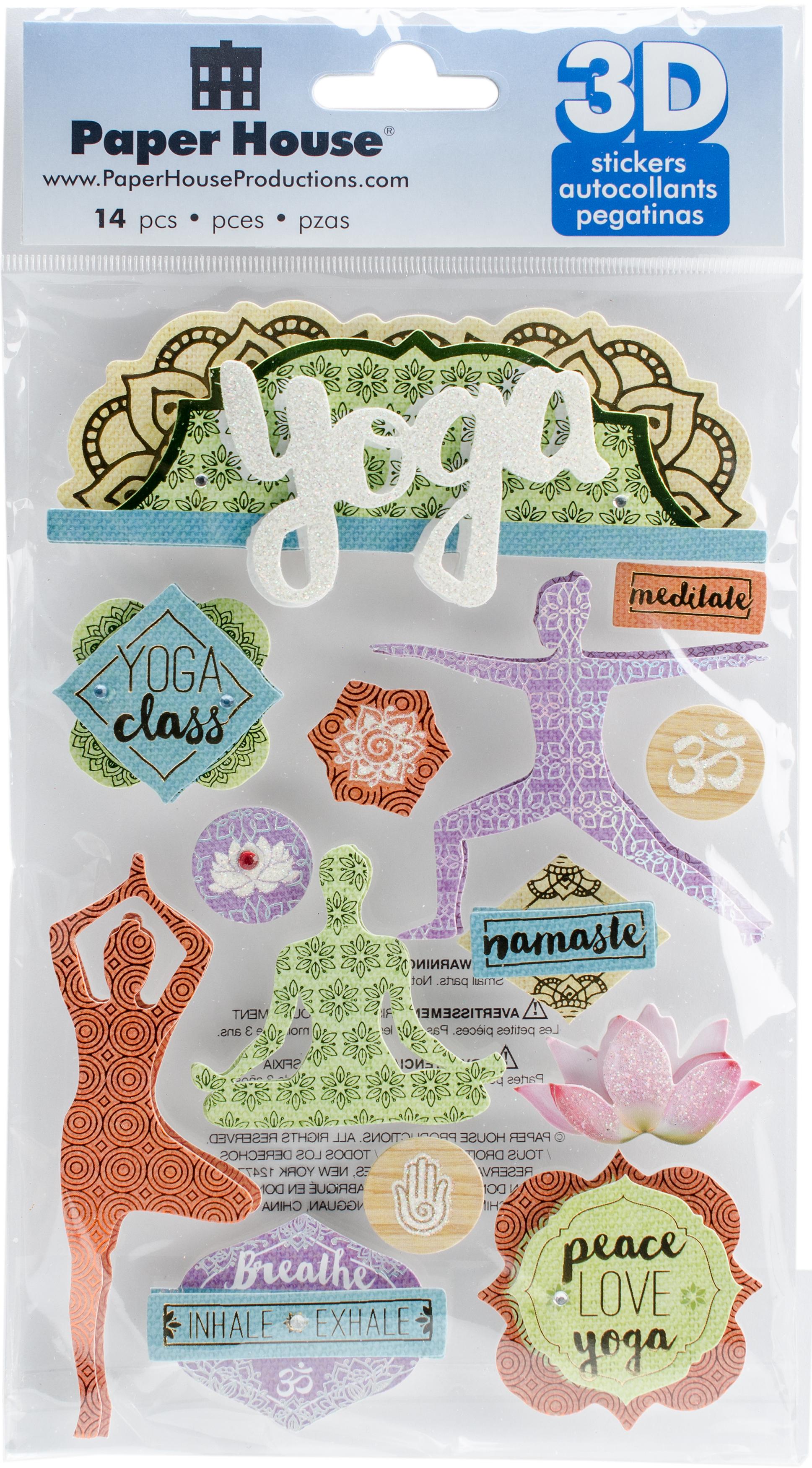 Yoga -3D Stickers