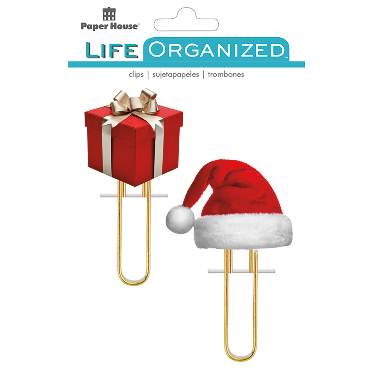 Paper House Life Organized Puffy Clips 2/Pkg-Christmas
