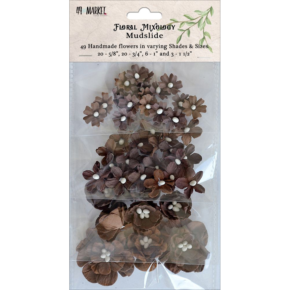 49 And Market Floral Mixology Paper Flowers 49/Pkg-Emerald Isle