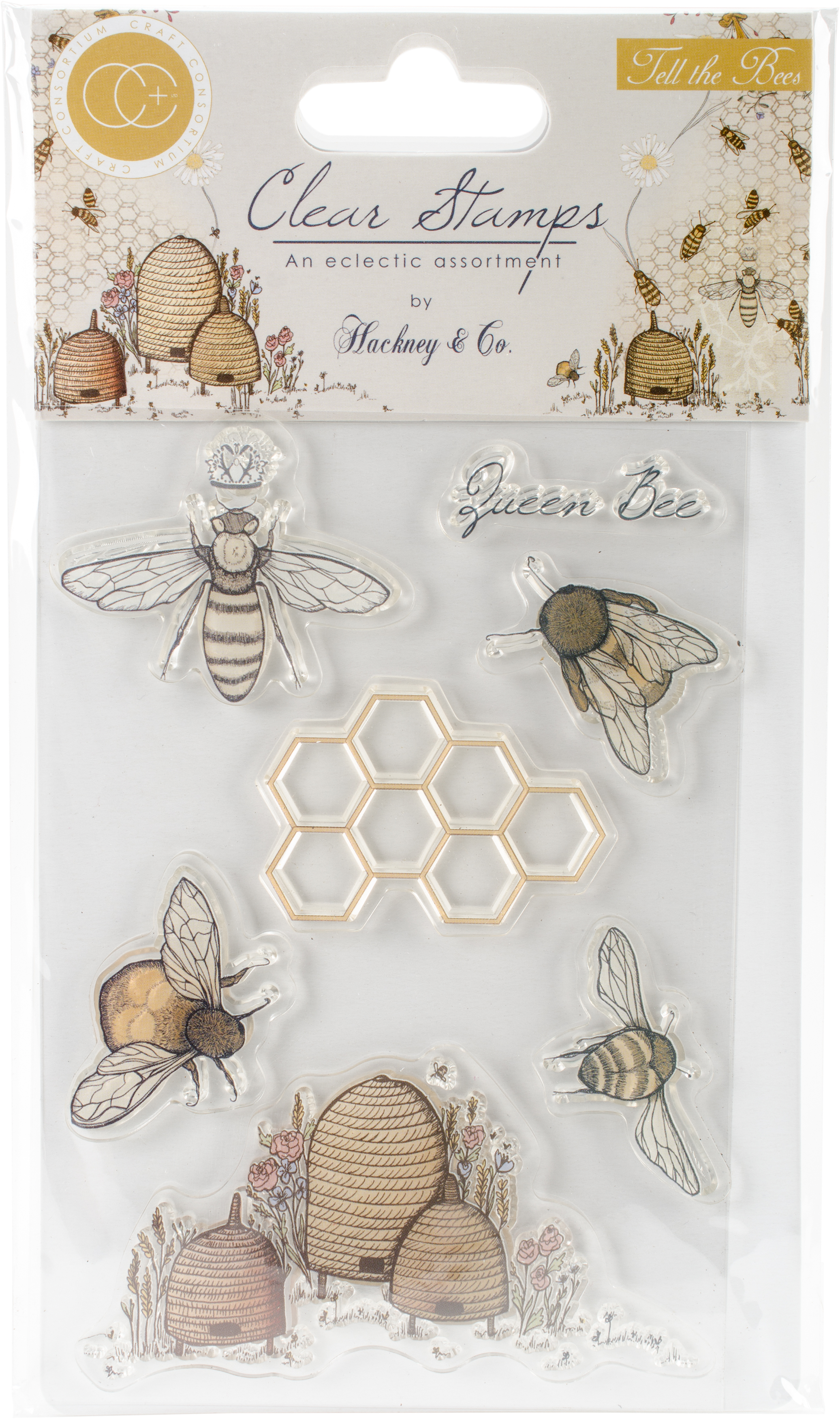Craft Consortium A5 Clear Stamps-Tell The Bees