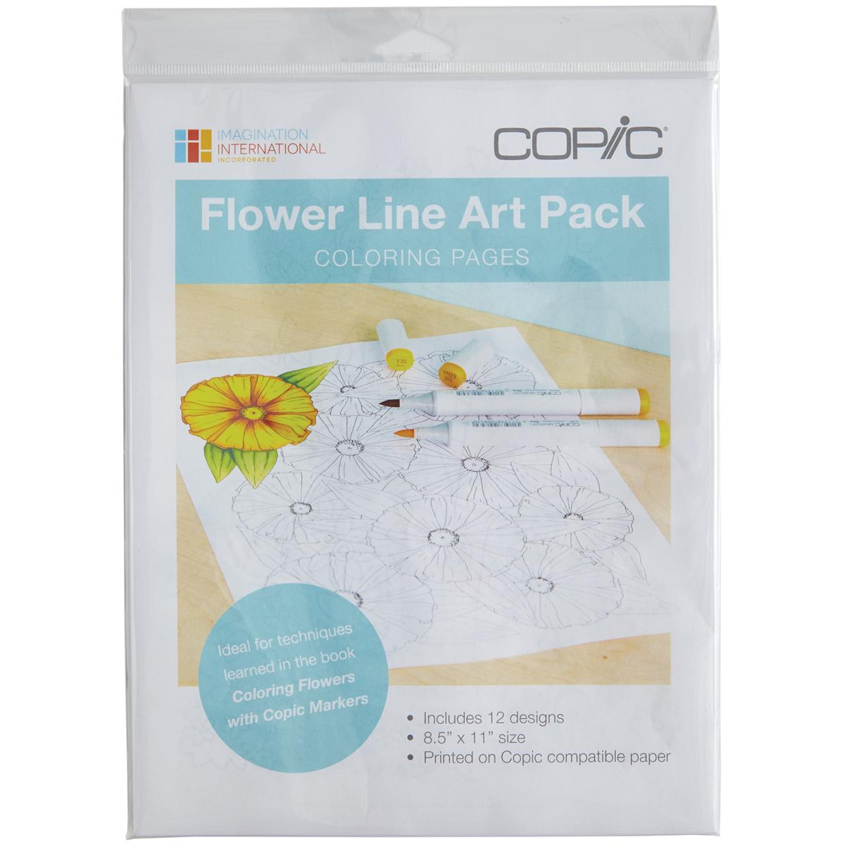 FLOWERS LINE ART PK