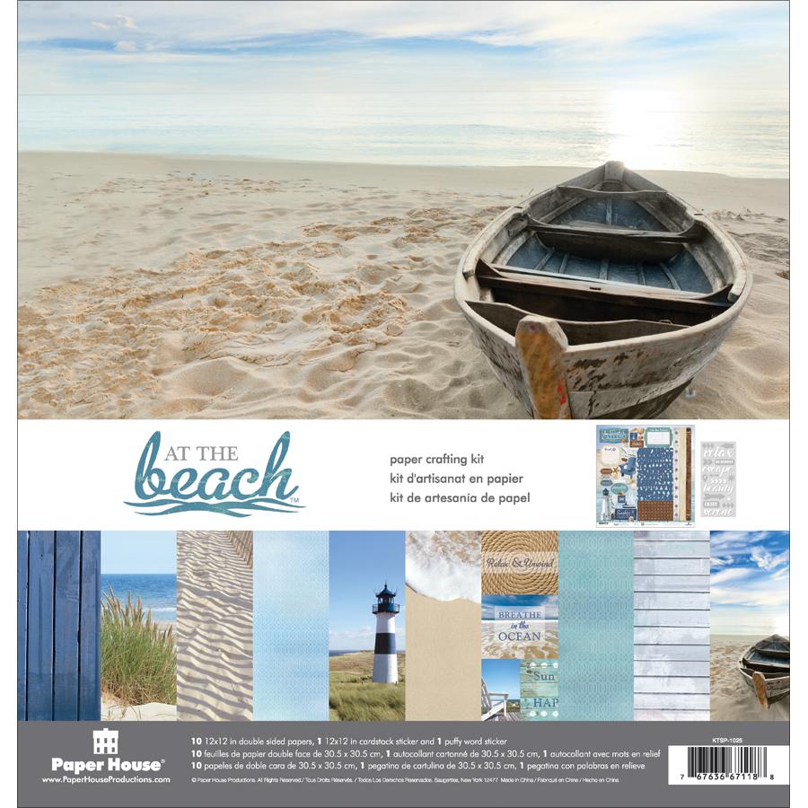 AT BEACH -PAPER CRAFT KIT12X12