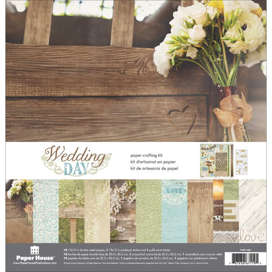 Paper House Paper Crafting Kit 12X12-Wedding Day