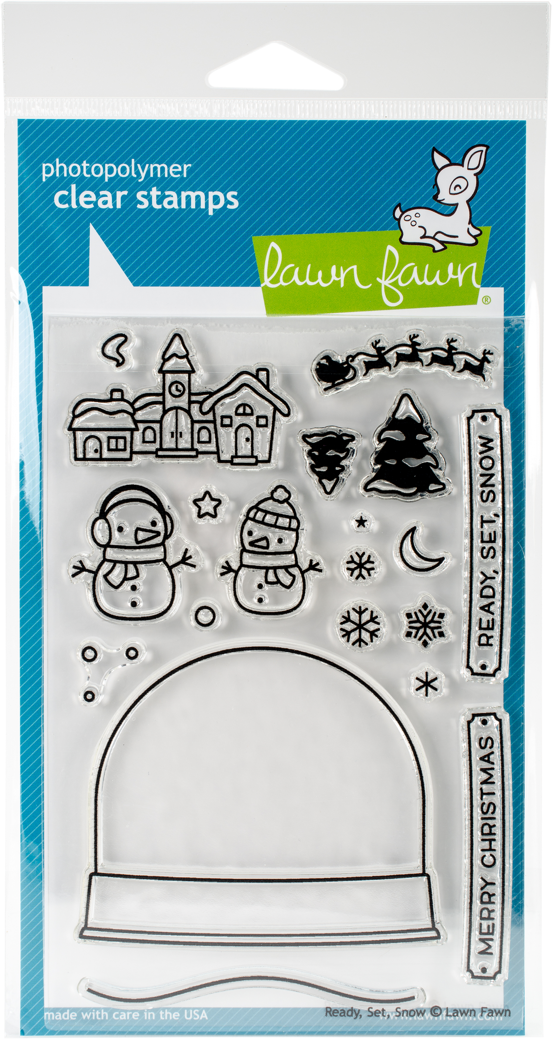 Lawn Fawn Die snd Clear Stamps 4X6-Ready, Set, Snow