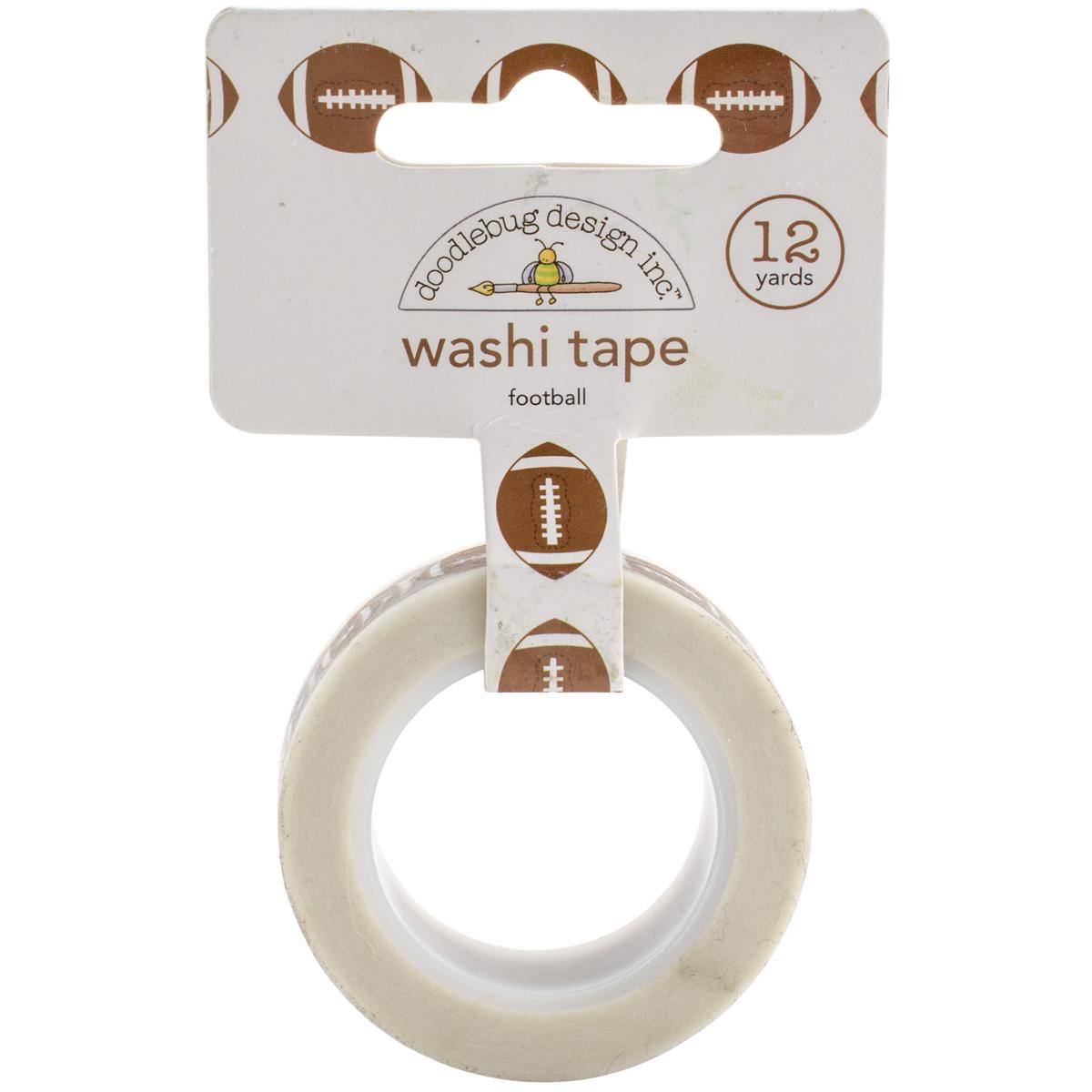 Doodlebug Washi Tape 15mmX12yd-Touchdown Footballs