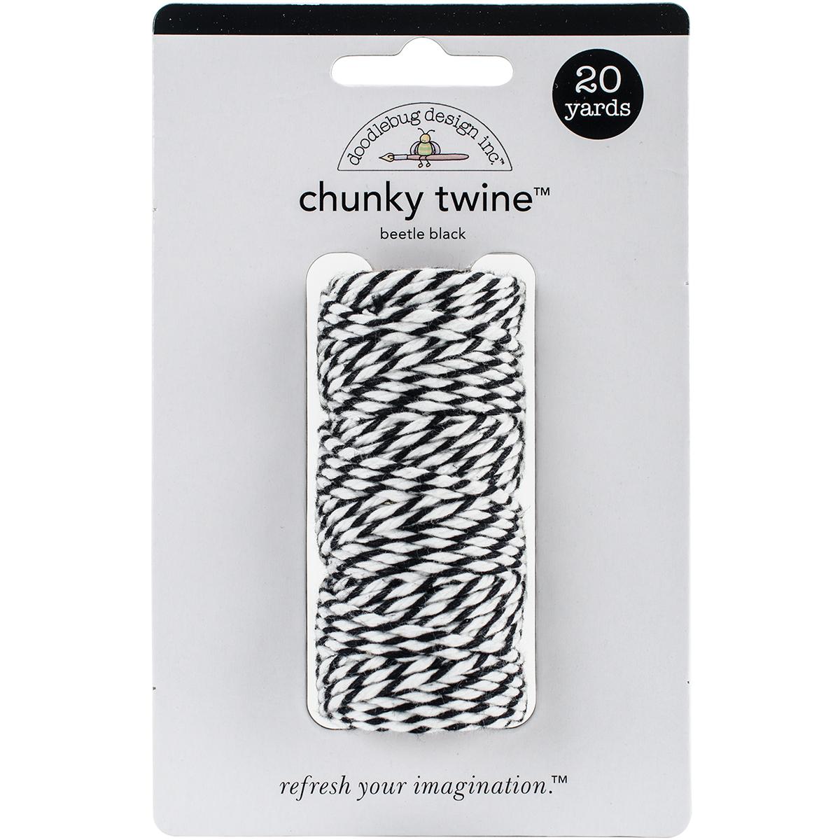 Doodlebug Monochromatic Chunky Twine 20yd-Gray