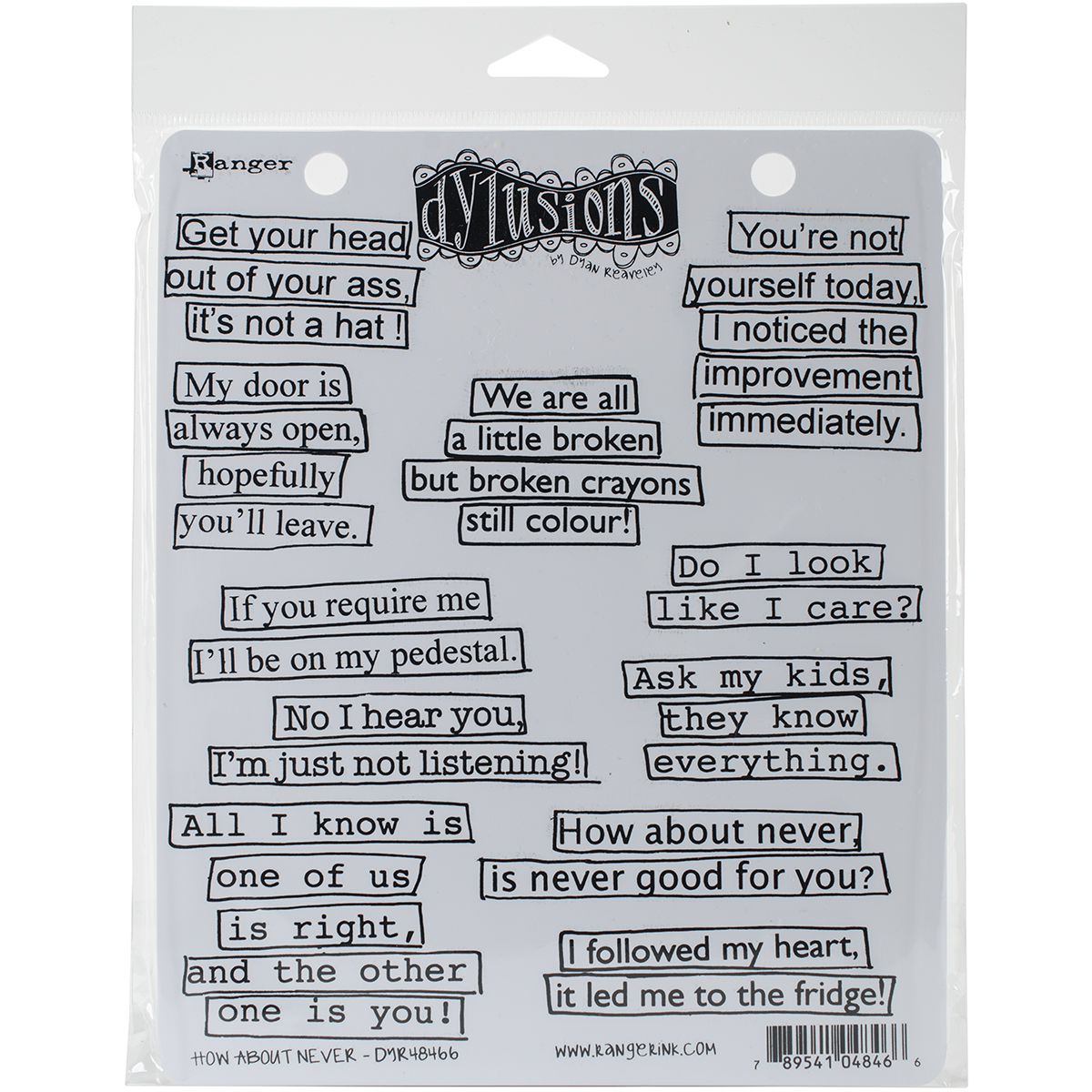 Dyan Reaveley's Dylusions Cling Stamp Collections 8.5X7-How About Never