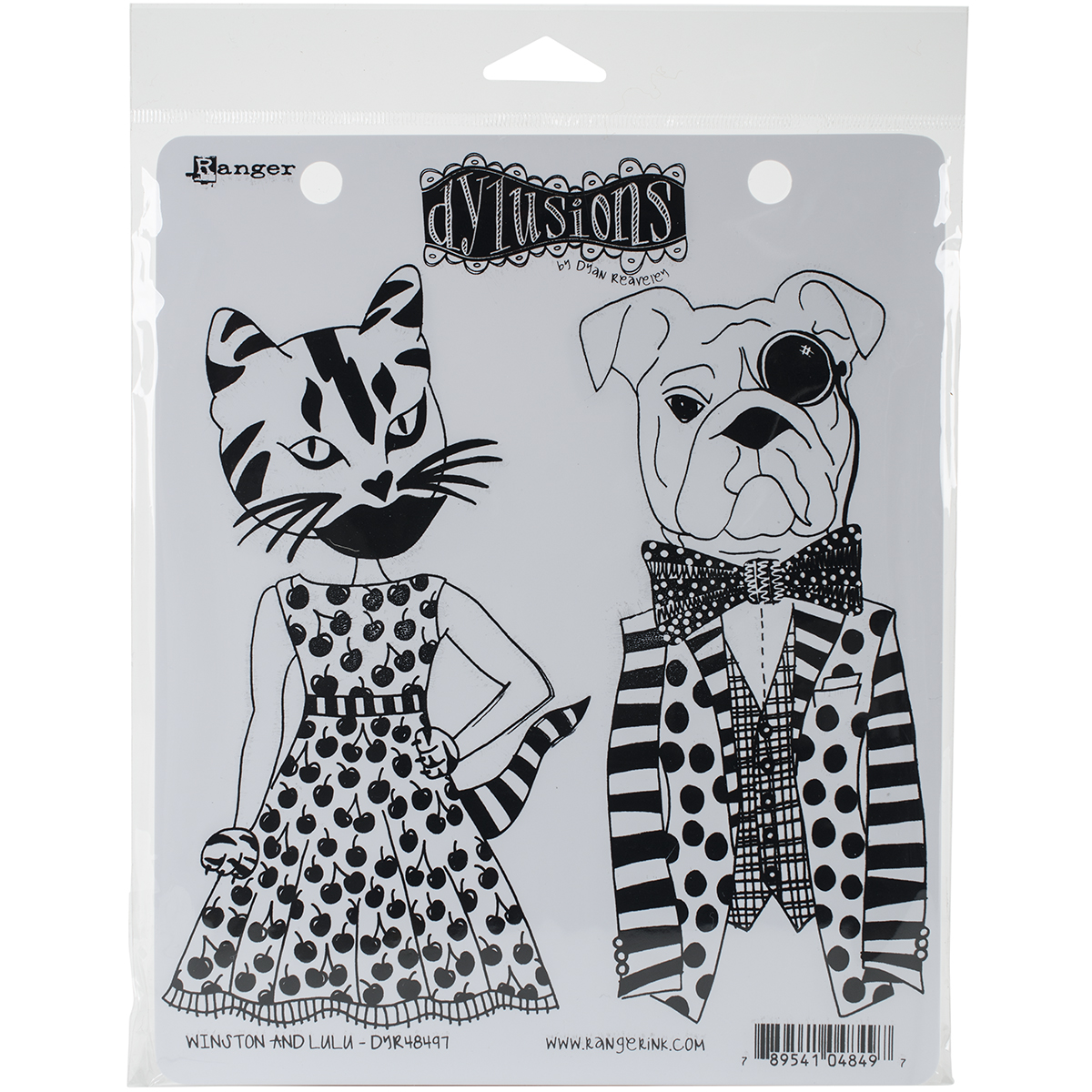 Dyan Reaveley's Dylusions Cling Stamp Collections 8.5X7-Winston & Lulu