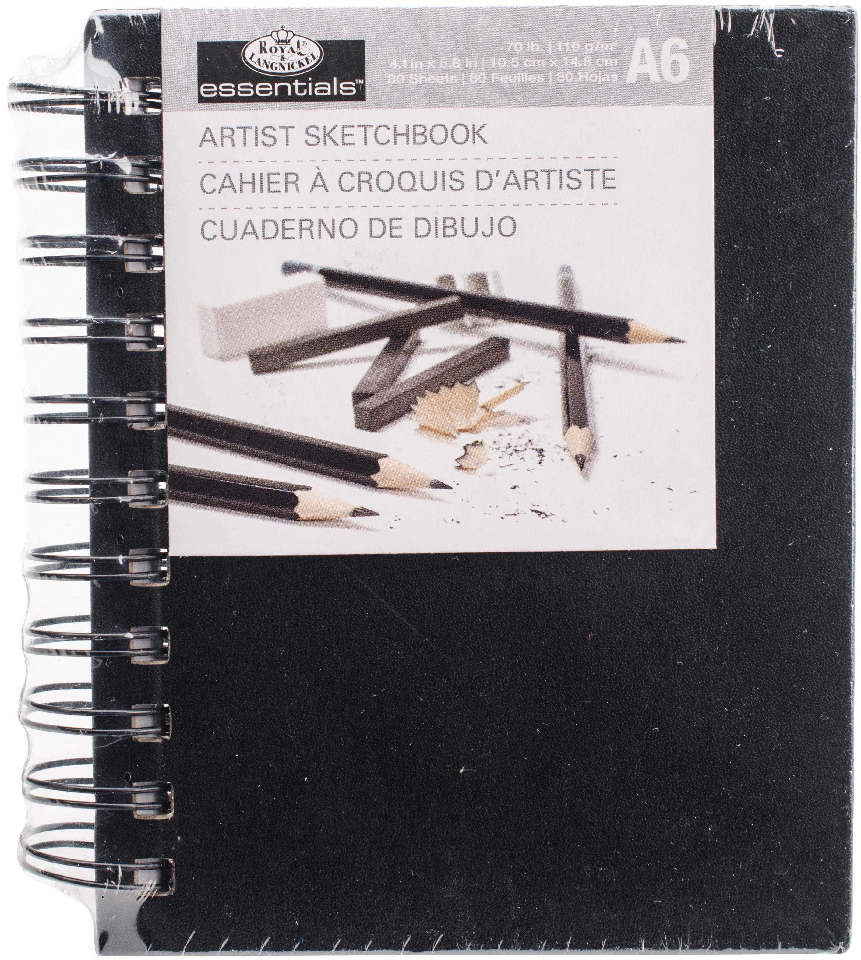 Spiral Hardcover Sketchbook 4.1X5.8-