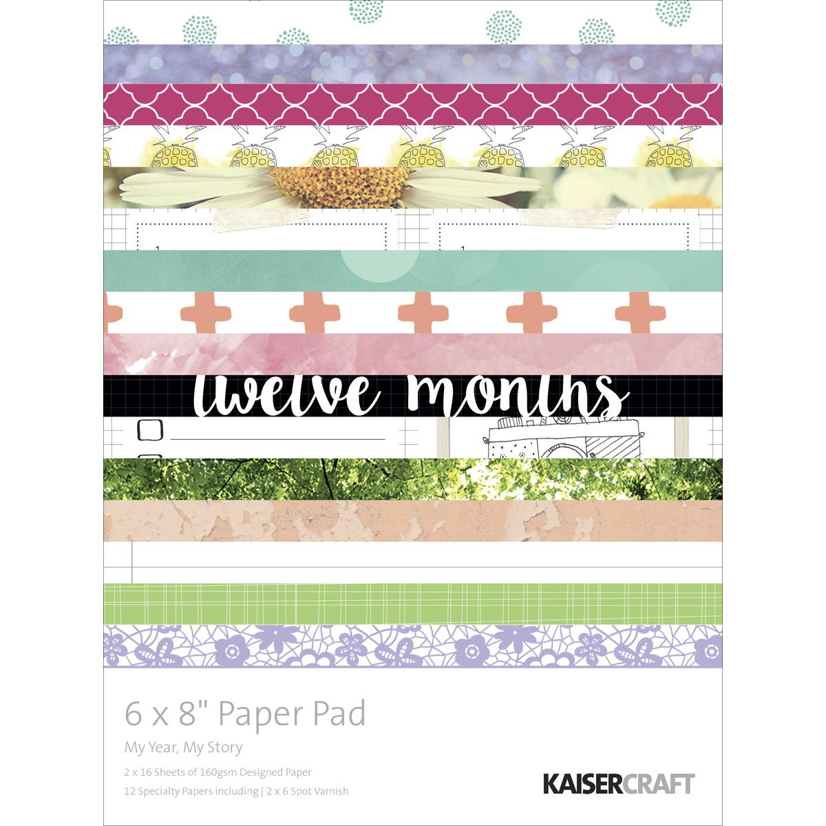 Kaisercraft Paper Pad 6X8 -My Year, My Story