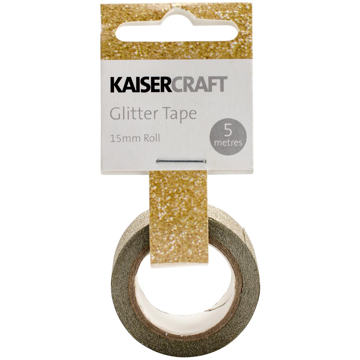 Kaisercraft Glitter Tape .5X16.5'-Gold
