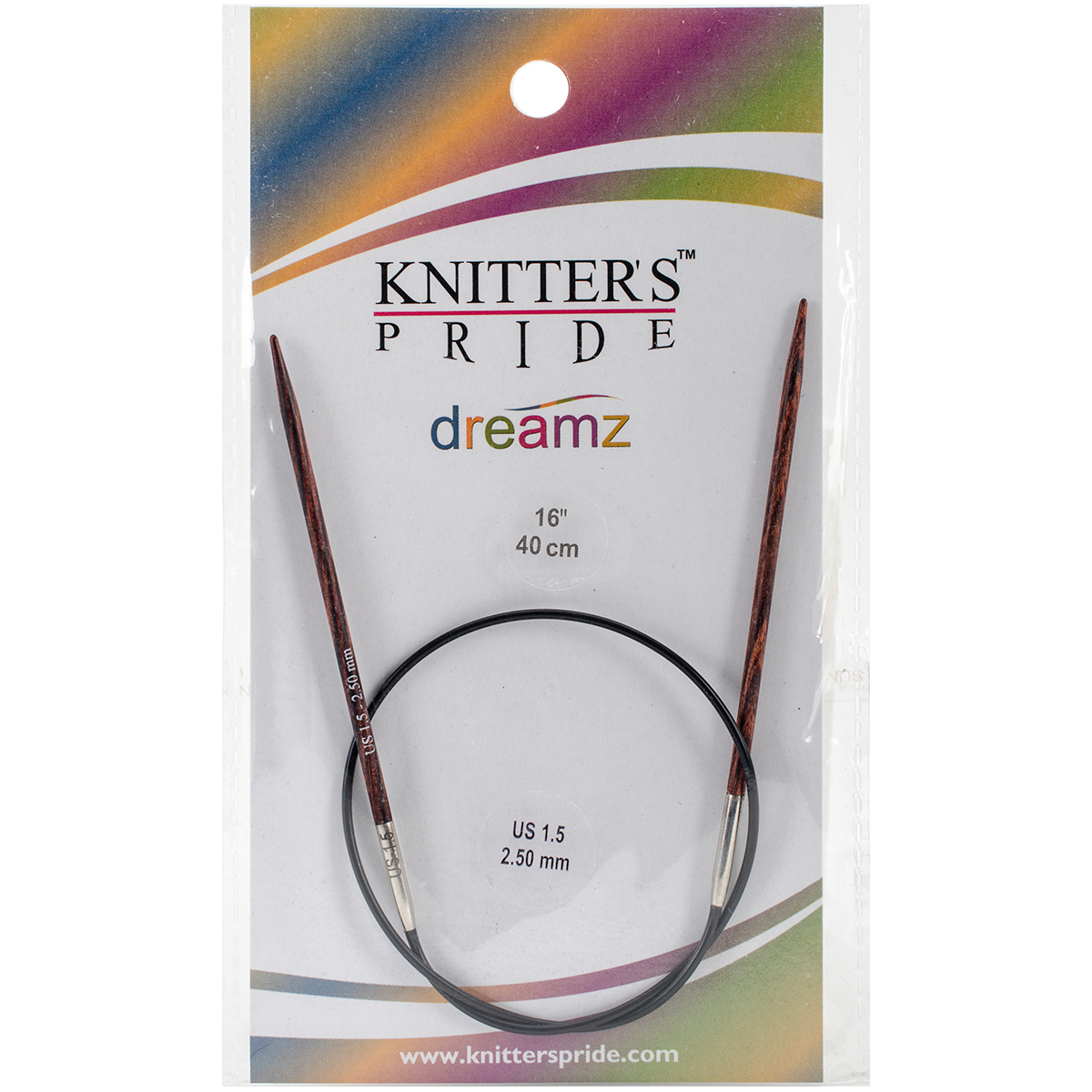 Knitter's Pride-Dreamz Fixed Circular Needles 16-Size 1.5/2.5mm