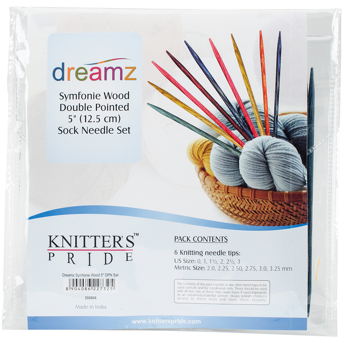 Knitter's Pride-Dreamz Double Pointed Needles Set 5-Socks Kit
