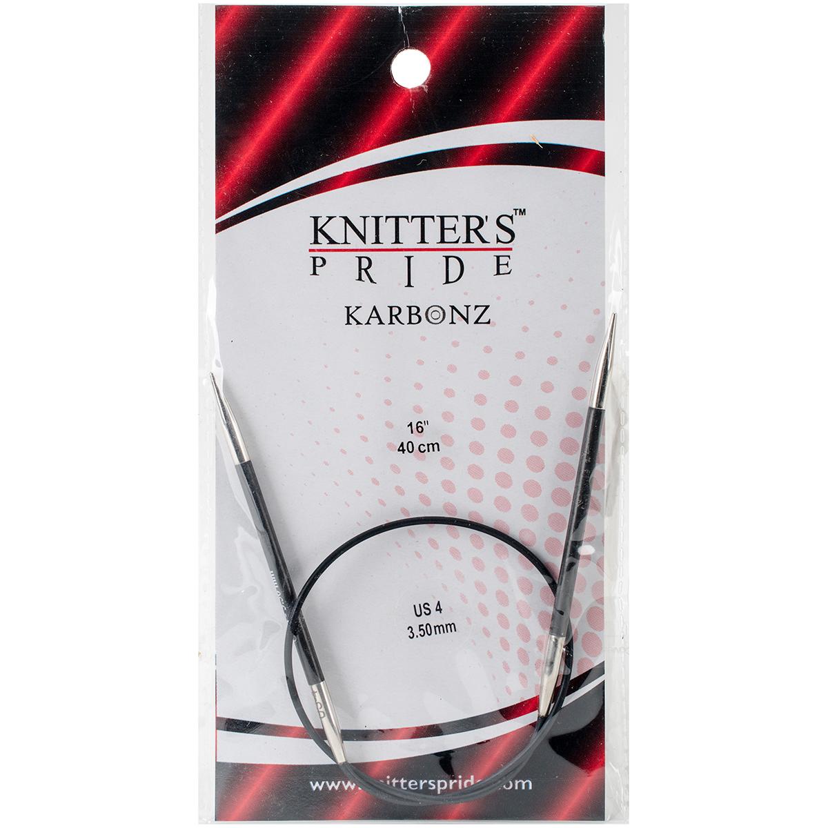 Karbonz Fixed Circular Needles 16-Size 4/3.5mm