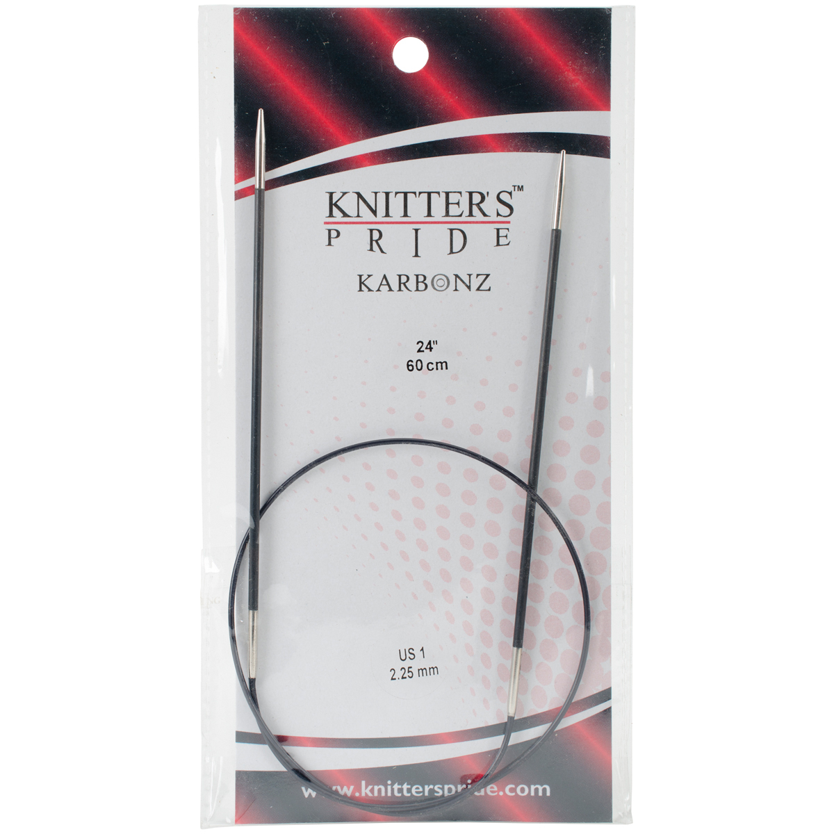 Knitter's Pride-Karbonz Fixed Circular Needles 24-Size 1/2.25mm