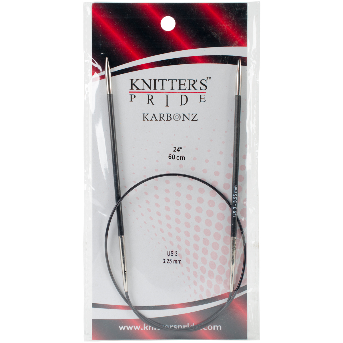 Knitter's Pride-Karbonz Fixed Circular Needles 24-Size 3/3.25mm