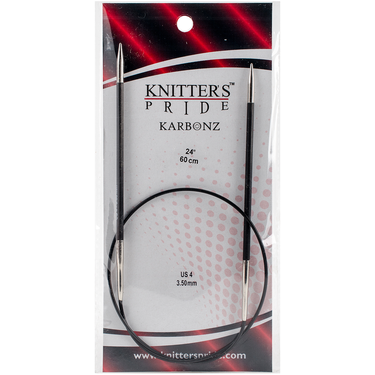 Knitter's Pride-Karbonz Fixed Circular Needles 24-Size 4/3.5mm