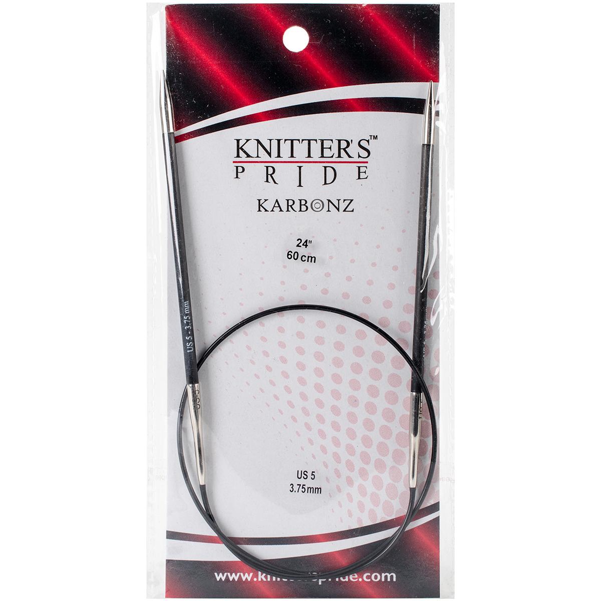 Karbonz Fixed Circular Needles 24-Size 5/3.75mm