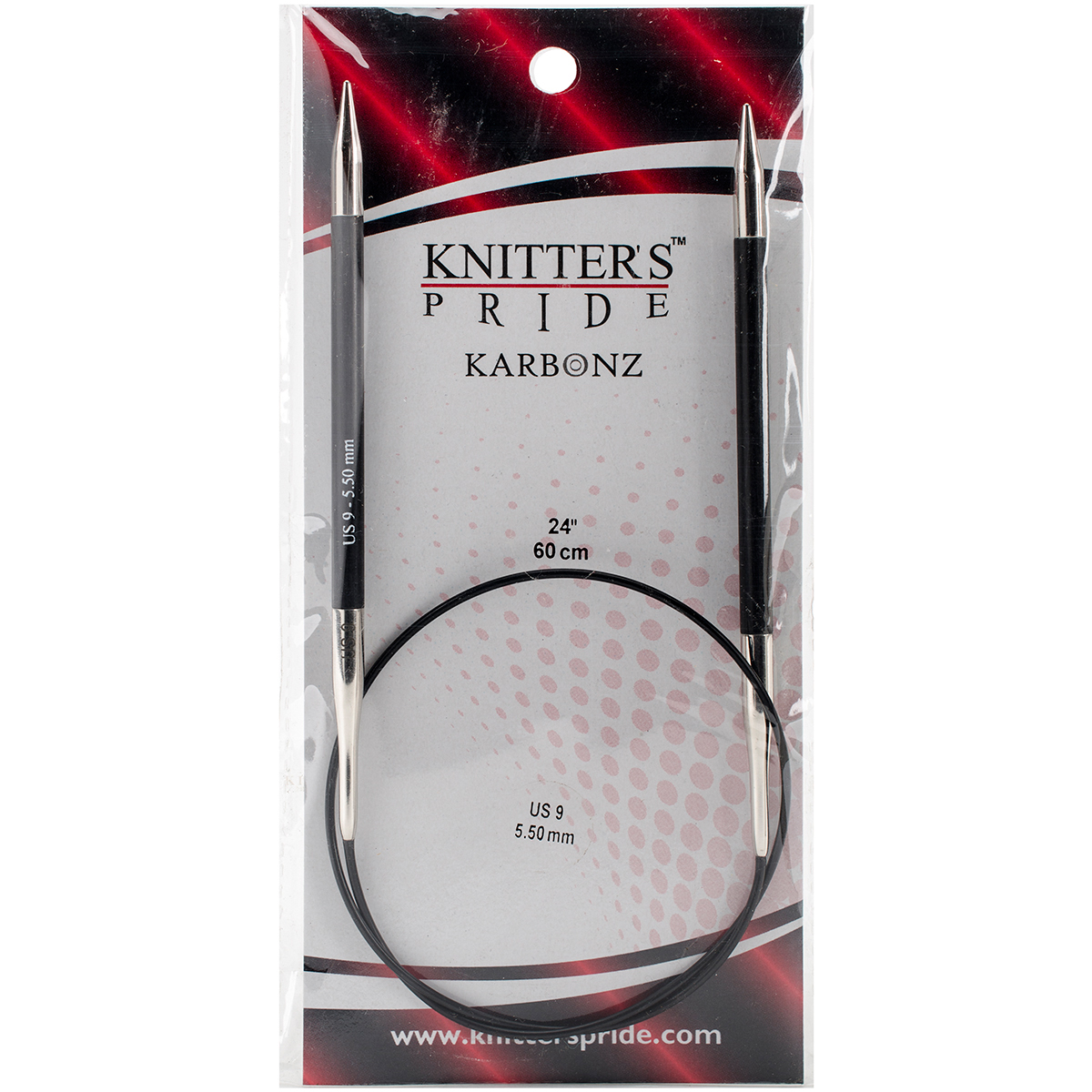 Knitter's Pride-Karbonz Fixed Circular Needles 24-Size 9/5.5mm