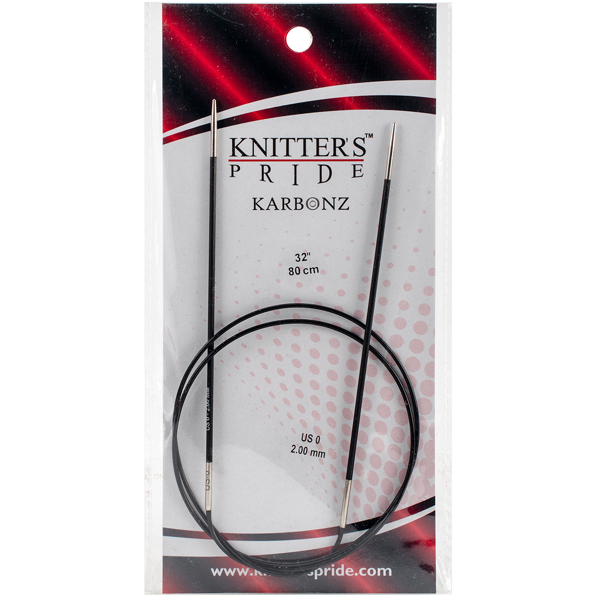 Knitter's Pride-Karbonz Fixed Circular Needles 32-Size 0/2mm