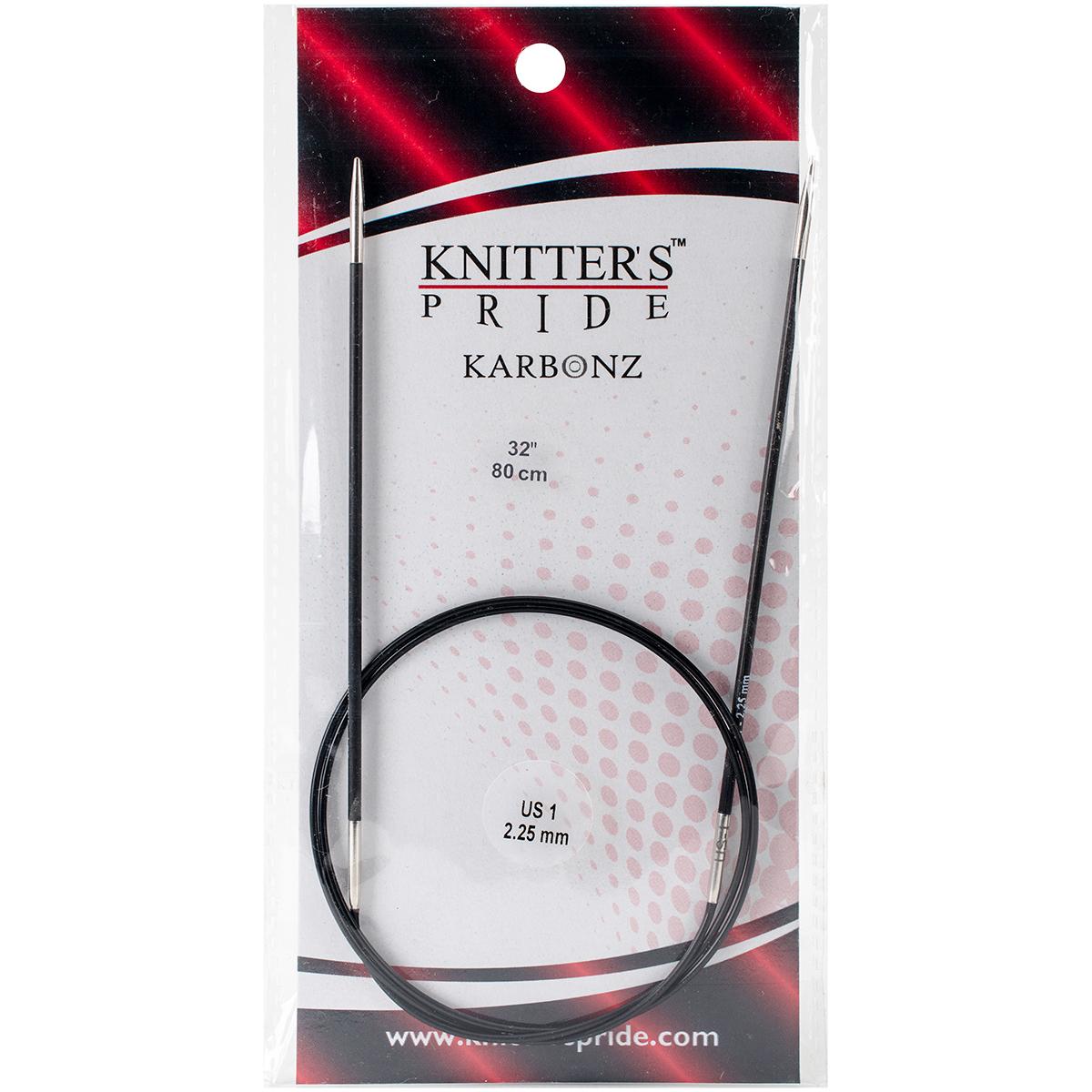 Karbonz Fixed Circular Needles 32-Size 1/2.25mm