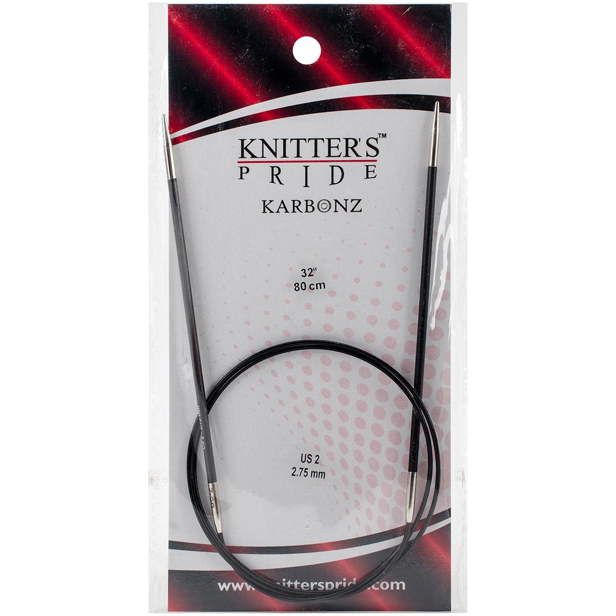 Karbonz Fixed Circular Needles 32-Size 2/2.75mm