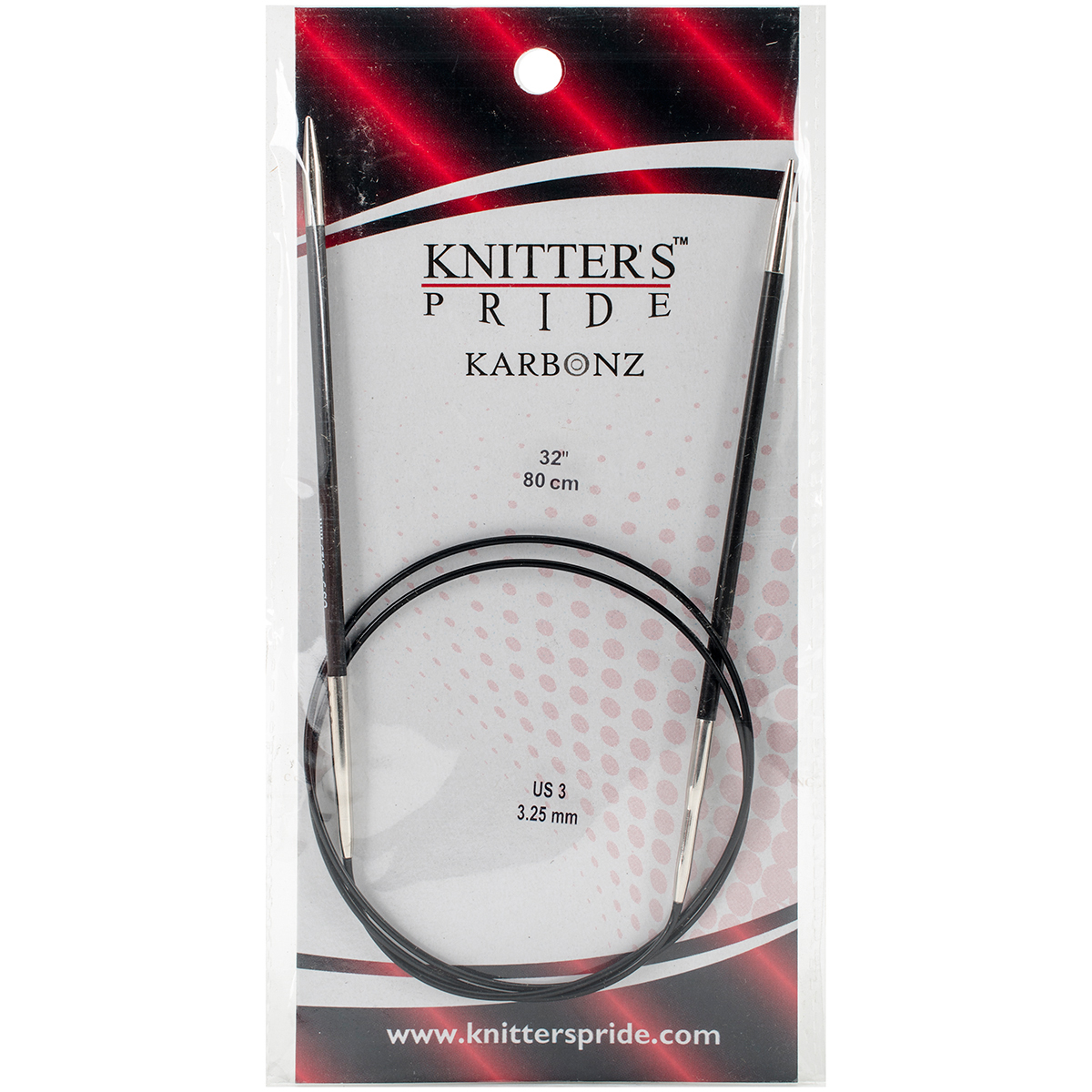 Knitter's Pride-Karbonz Fixed Circular Needles 32-Size 3/3.25mm