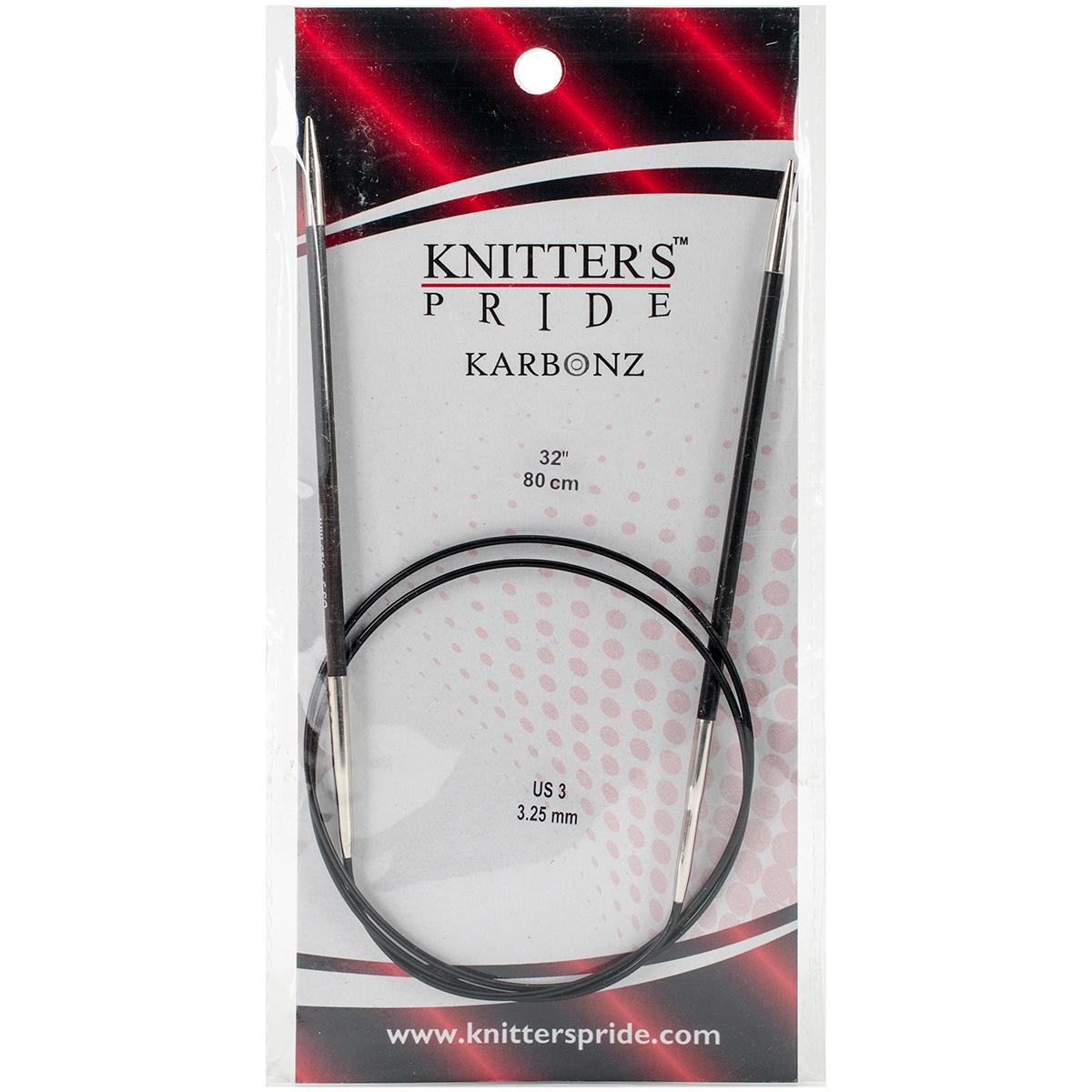 Karbonz Fixed Circular Needles 32-Size 3/3.25mm