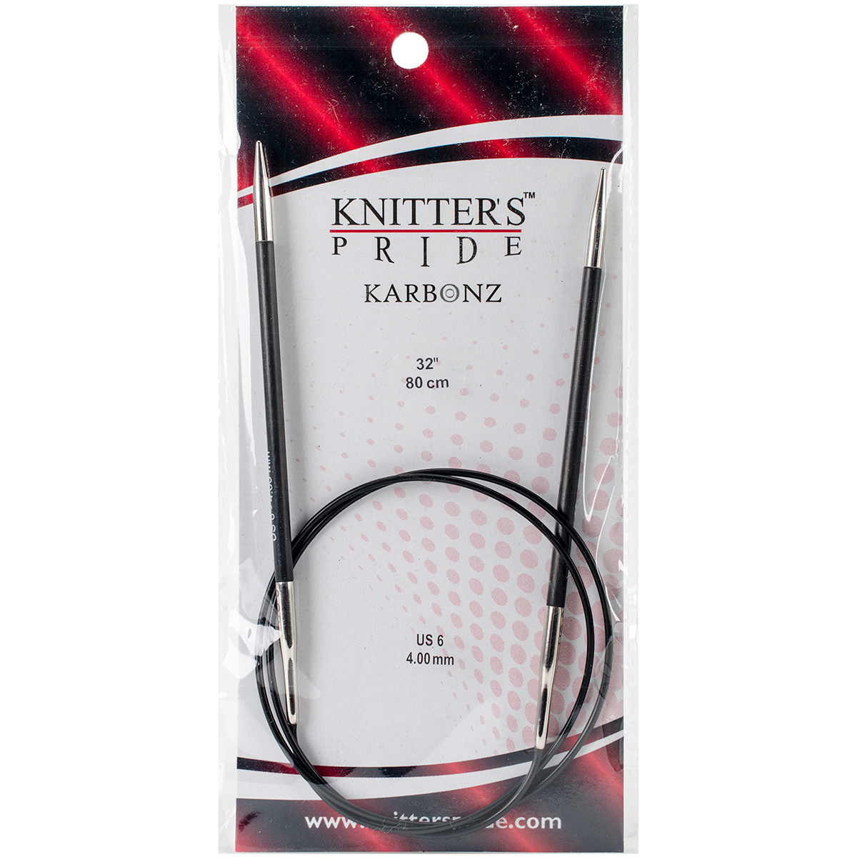 Knitter's Pride-Karbonz Fixed Circular Needles 32-Size 6/4mm