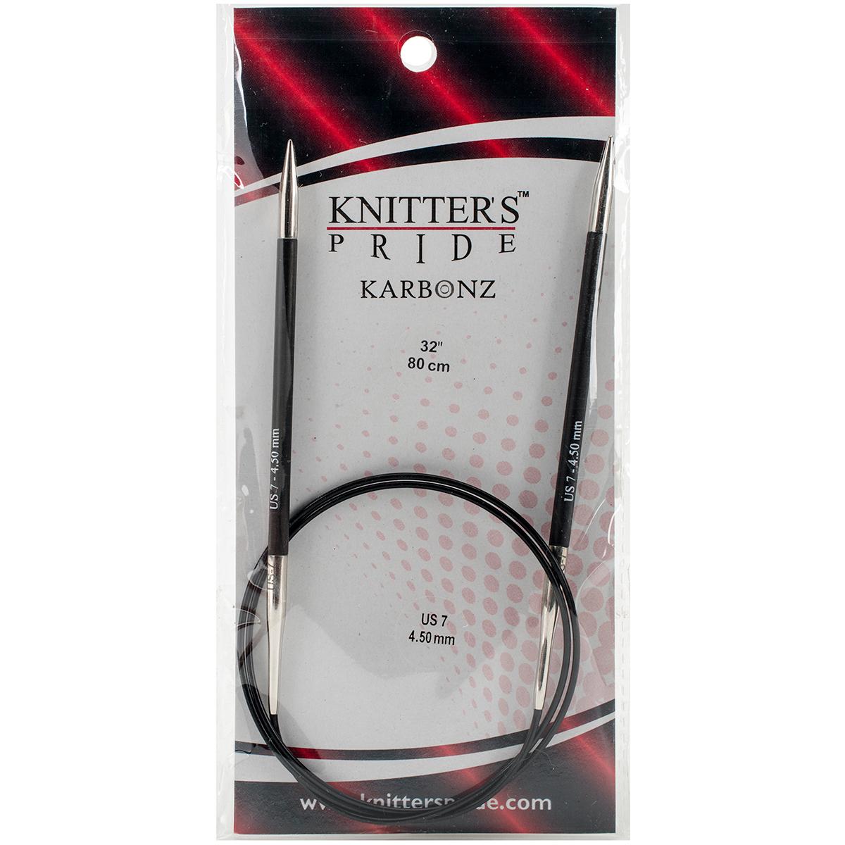 Karbonz Fixed Circular Needles 32-Size 7/4.5mm