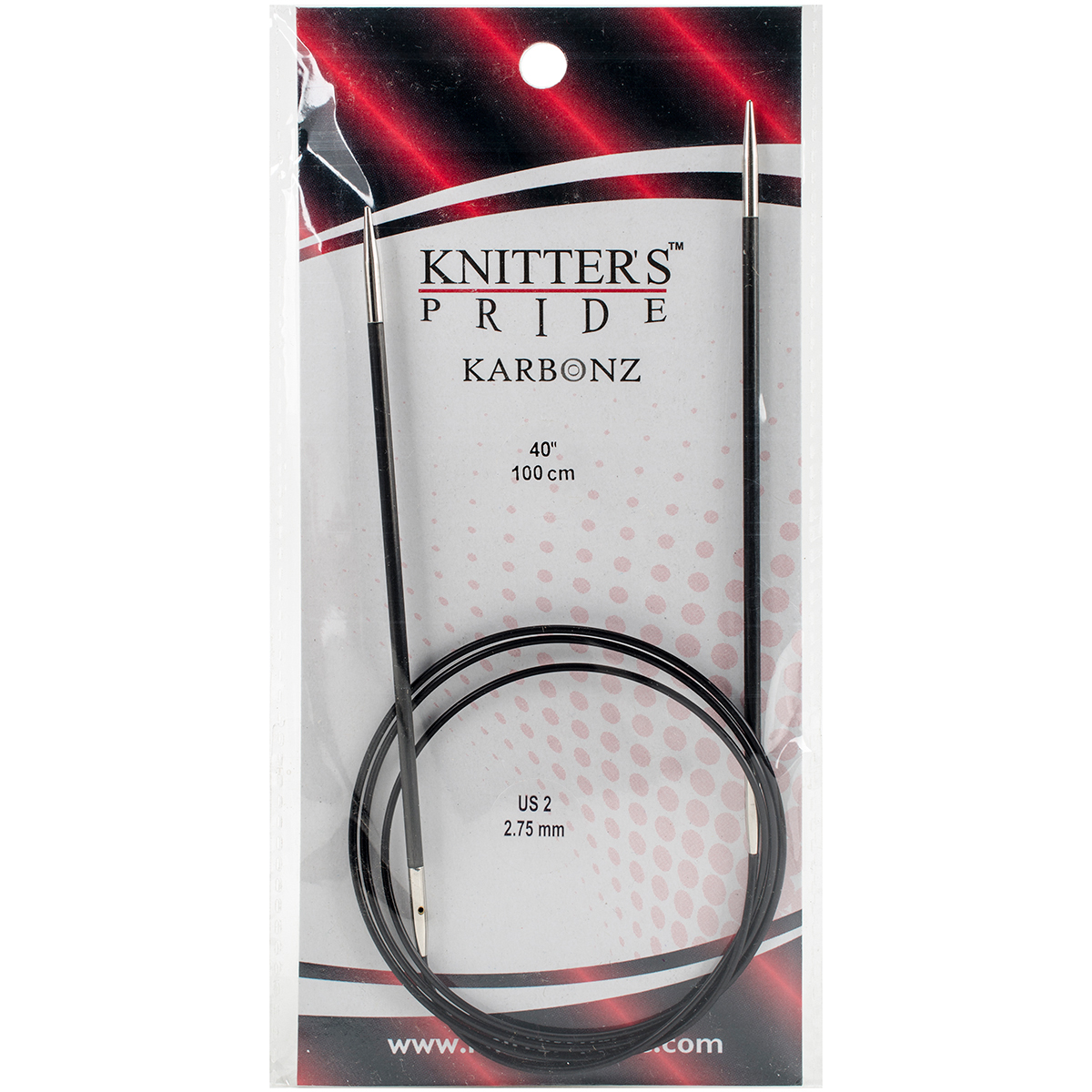 Knitter's Pride-Karbonz Fixed Circular Needles 40-Size 2/2.75mm