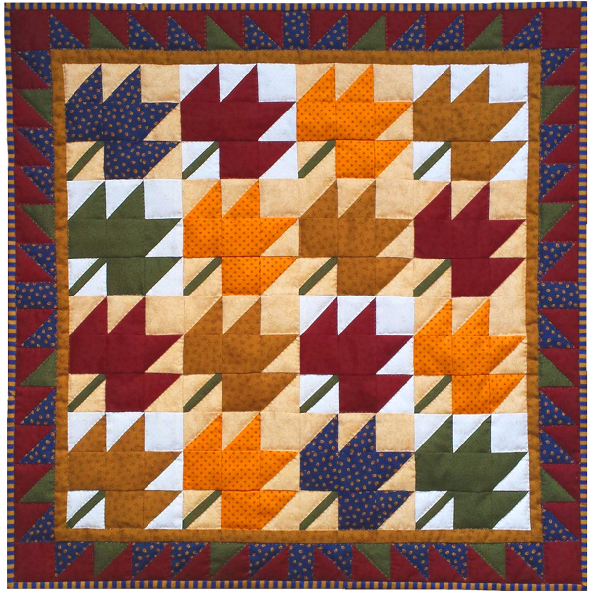 Rachel's Of Greenfield Wall Quilt Kit 22X22-Leaves