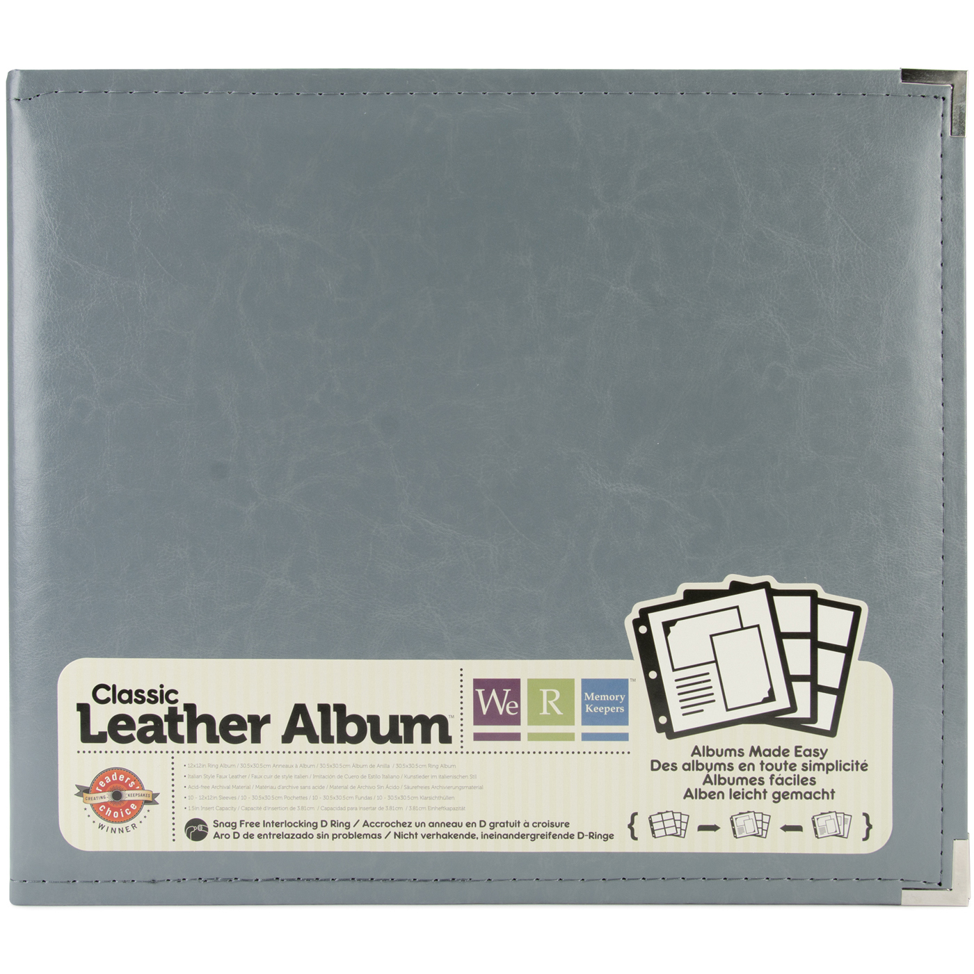 We R Leather Album - Charcoal