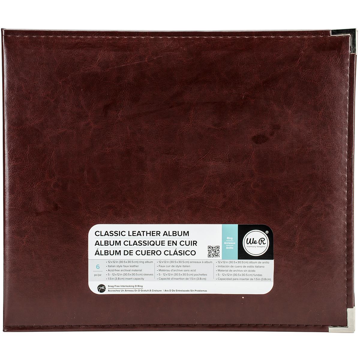 We R Classic Leather D-Ring Album 12X12-Cinnamon